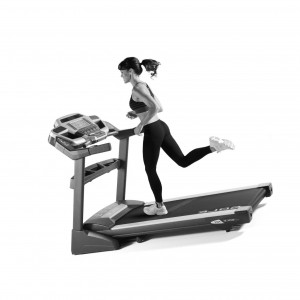 Women running on a sole f85 treadmill